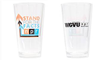 WGVU NPR Stand For The Facts Pint Glass